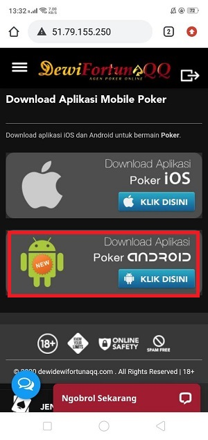 cara download idnplay poker99 dewifortunaqq step ke 2